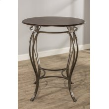 Montello Bar Height Bistro Table - Ctn - Round Metal Table Base Only - Old Steel