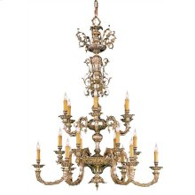 Novella 18 Light Olde Brass Chandelier