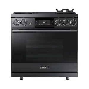 "36"" Pro Dual-Fuel Steam Range, Graphite Stainless Steel, Natural Gas Product Image"
