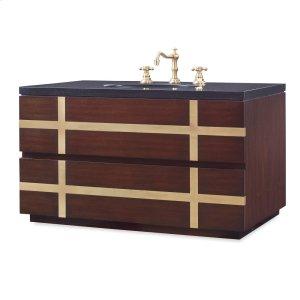 Thompson Wall Sink Chest - Dark Walnut Product Image