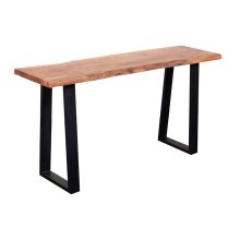 Crossover Acacia Live Edge Console Table with different bases, SB-AUT-93C