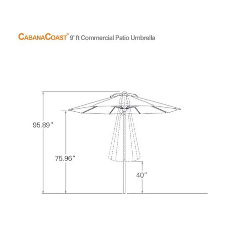 Commercial Patio Umbrella : 9ft. Commercial
