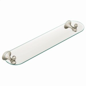 Lounge brushed nickel vanity shelf Product Image