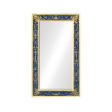 Rectangular Mirror with Gilt Renaissance Decoration (Azure)