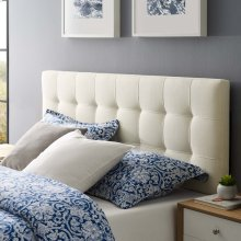 Lily Queen Upholstered Fabric Headboard in Ivory