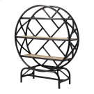 Sonia KD Rattan Bookcase, Black/ Natural Product Image