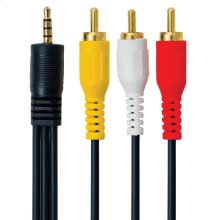 3.5MM Audio/video Male To 3 RCA Male