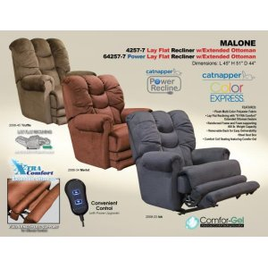 "Power ""Lay Flat"" Recliner w/Ext Otto"