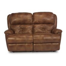 Cruise Control Leather or Fabric Reclining Loveseat