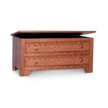 Shaker Blanket Chest with False Fronts, Wood Top