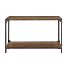 Indstrl Wd & Metal Sofa Table