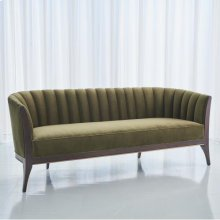 Channel Back Sofa-Moss Velvet