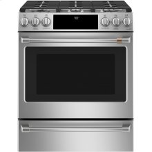"""Café 30"""" Smart Slide-In, Front-Control Gas Range with Convection Oven"""