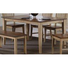 DLU-BR3660-PW  Rectangular Dining Table