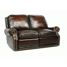 25-6600 Premier II Loveseat (Leather) 5407-41 Stetson Coffee