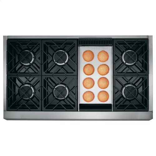 """Café 48"""" Professional Gas Rangetop with 6 Burners and Griddle (Natural Gas)"""