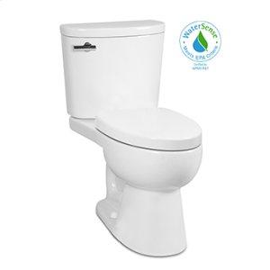 White PALERMO II Two-Piece Toilet 1.28gpf, Elongated with Venetian Bronze Metal Finish