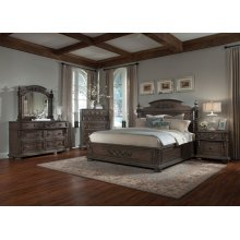 King Bedroom Set: King Bed, 2 Nightstands, Dresser & Mirror