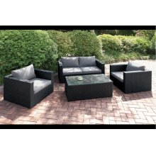 405 / Liz.p28- 4PC OUTDOOR PATIO SOFA SET [P50148(1)+P50146(2)+P50150(1)]