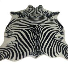 ZEBRA HIDE RUG  Faux Hair on Hide- Black