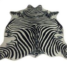 ZEBRA HIDE RUG  Faux Hair on Hide- Black
