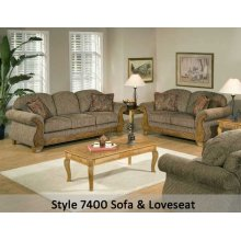 Torrey Tomato/Bunkhouse Fringe/Jada Tomato 7400FRLS - Loveseat