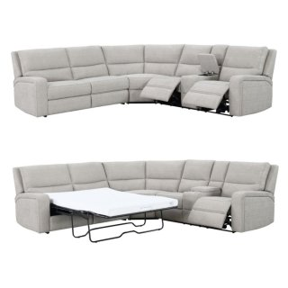 Medford Power Recliner Sectional w/ Sofa Sleeper