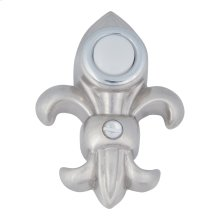 Fleur de lys Door Bell - Brushed Nickel