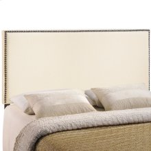 Region Nailhead King Upholstered Headboard in Ivory