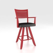 """Swivel Barstool 24"""" with arms"""