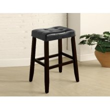 "29"" Kent Saddle Bar Stool, Black"