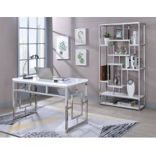 "Alize Bookcase, White 36""x12""x71"""