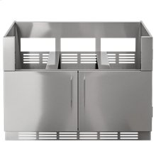 "OUTDOOR KITCHEN CABINETS IN STAINLESS STEEL  PURE 48"" Grill Base Cabinet 2 doors"