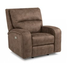 Rhapsody Power Gliding Recliner with Power Headrest *Available in Saddle Brown or Grey Microfiber*
