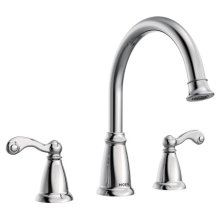 Traditional chrome two-handle roman tub faucet