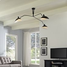 View Ceiling Fixture in Black