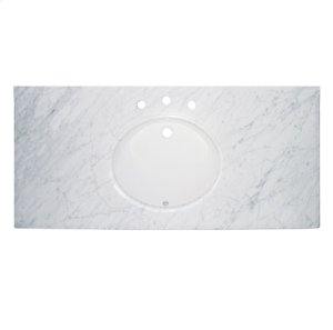 """49 """"White Carrera (WC) - Marble Top Product Image"""