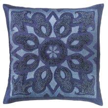 Cassandra Pillow, INDIGO, 22X22