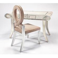 "Desk with Glass, 1 Drawer 56x27x31.5"""