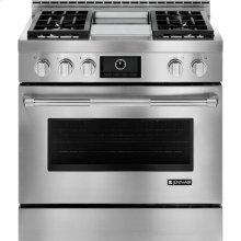 """Pro-Style® 36"""" Gas Range with Griddle and MultiMode® Convection, Pro-Style® Stainless Handle"""