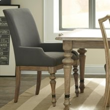 Corinne - Upholstered Arm Chair - Sun-drenched Acacia Finish