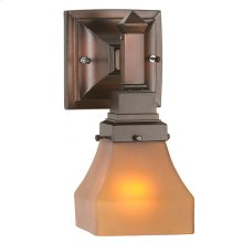 """5""""W Bungalow Frosted Amber Wall Sconce"""