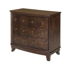 Henley 3 Scored X Curved Drawer Chest with Walnut Finish