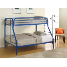 Twin / Full Metal Bunkbed Blue