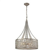 Renaissance 6-Light Chandelier in Sunset Silver
