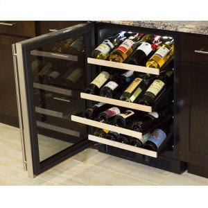 24-In Built-In High Efficiency Gallery Single Zone Wine Refrigerator with Door Swing - Left Product Image