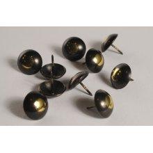 Standard Black Gold Nails
