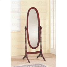 "MIRROR/FLOOR BEVELED CHE VAL WOOD CHRRY/F 59""H"""