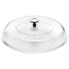 Staub Cast Iron 11-inch Glass Lid domed made of glass