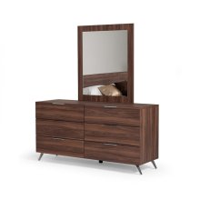Nova Domus Brooklyn Italian Modern Walnut Mirror